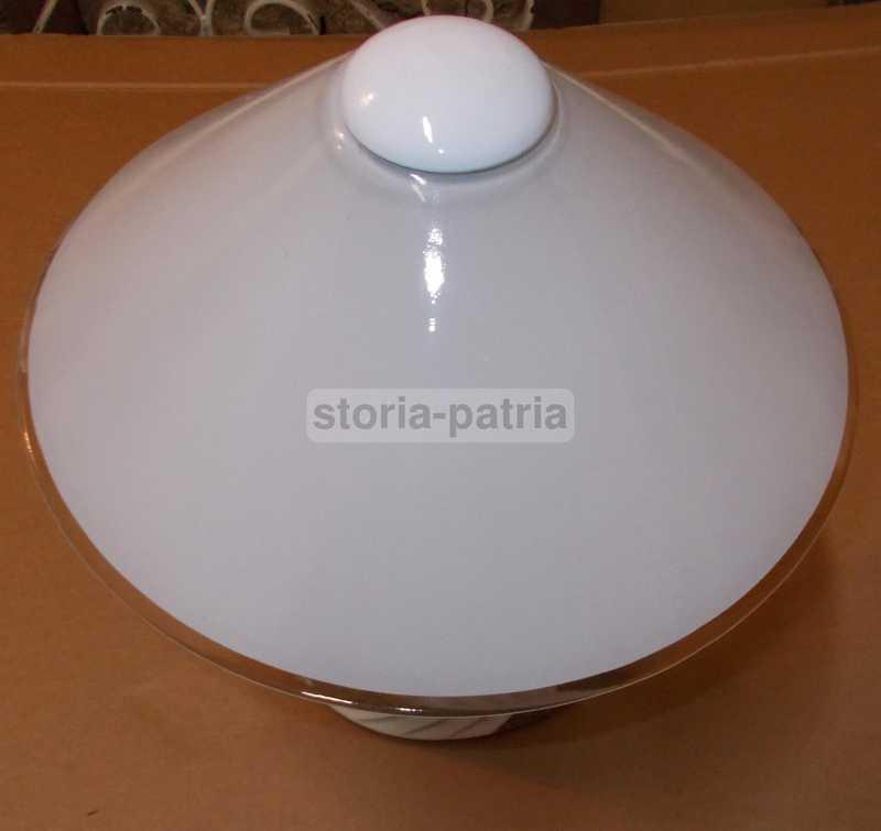 Design Modernariato Decorativa Lampada Da Tavolo Ceramica E Vetro Utile Inusuale
